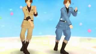 [mmd hetalia] Juliet & Romeo (italy bros.)
