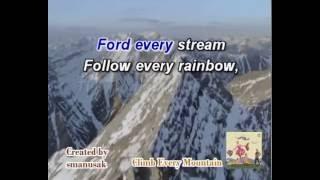 Climb Every Mountain Karaoke