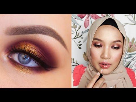 Glitter Eye Makeup Tutorial (MALAY language)