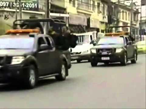 Rio de Janeiro Vídeo e fotos da cena de Guerra.