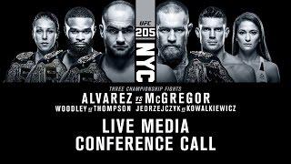 UFC 205: Alvarez vs. McGregor Media Conference Call Part 1