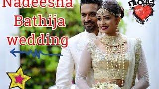 Nadeesha Hemamali  wedding නදීශා බතීජ යුගදිවියට