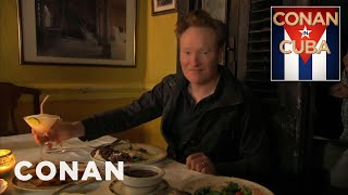 Conan Dines At A Cuban Paladar  - CONAN on TBS