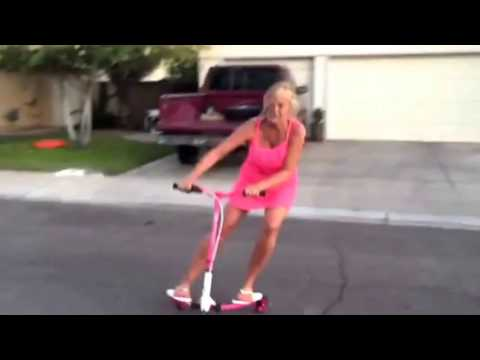 Xxx Mp4 Pushing 60 Hot Blonde Grandma Thinks She S Cool Riding The Grandkids Scooter And Falls On Her Ass 3gp Sex