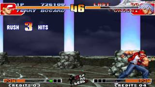 Tips vs Bosses Terry vs Orochi KOF 97