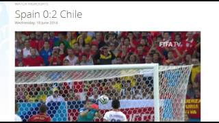 Spain 0-2 Chile All Goals & Highlights HD ( FIFA World Cup Brasil 2014)