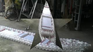 plastic bottle canoe kayak : step by step