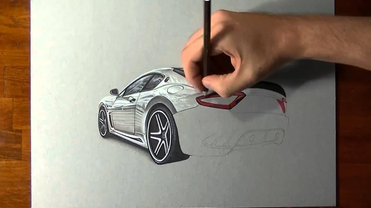 Видео где рисуют машины