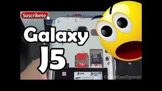 Samsung Galaxy J5 Cómo colocar la tarjeta SIM y Cambiar batería
