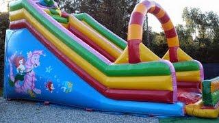 Playground Fun, Playground  slide ,Bouncy Castle  ,  Plac Zabaw dla dzieci,zjeżdżalnia,Dmuchańce