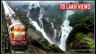 AMARAVATHI EXPRESS, DUDHSAGAR WATERFALLS, BRAGANZA GHATS | Indian Railways