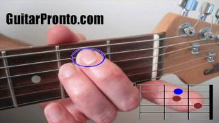 Basic guitar chords - 3 simple steps (A and E major)