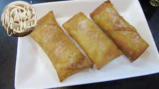 DIY: How To Make Crunchy Apple Pie Spring Roll  In Easy Steps