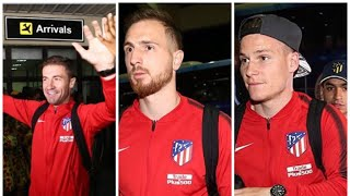 Atletico Madrid players in Nigeria for last match of the season with a friendly against local team