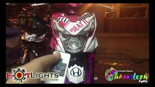 Honda Beat Fi V2 LED Chameleon Projector w/ Remote By HotLights Philippines