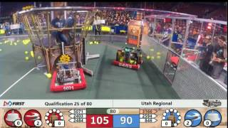 FRC FIRST STEAMWORKS Robotics Utah Regional Qualification 25 of 80, March 10th, 2017