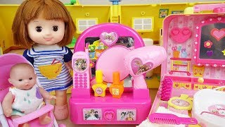 Baby doll and beauty hair shop toys play