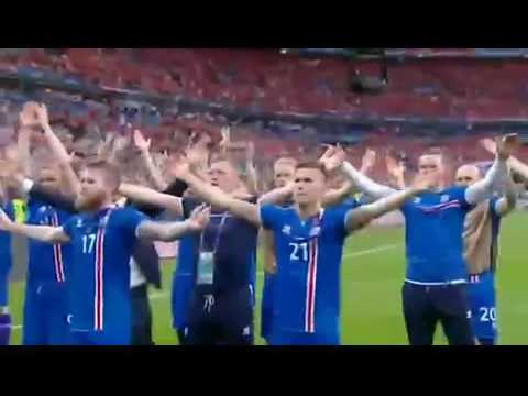 Iceland celebrates their Euro 2016 success with fans clapping in unison after the game | Sports News