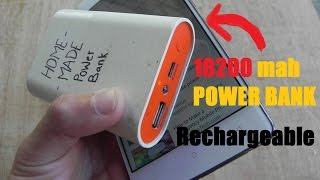 How to make 10200 mah Rechargeable Power Bank