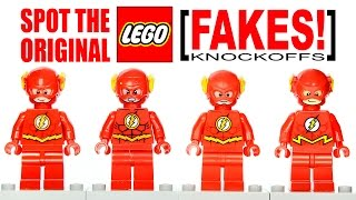 LEGO DC Super Heroes The Flash Original vs Fake Minifigures Buyer Awareness