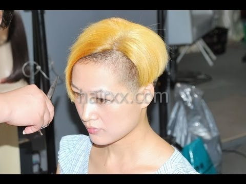 hairxx #009 long to undercut,bob,bowl short blonde haircut