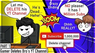 When A Gamer Deletes His Bros YT Channel | Allipsters Vs Alex