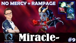 Miracle - Queen of Pain MID | NO MERCY + RAMPAGE | 7.07 Update Patch Dota 2 Pro MMR  Gameplay #9