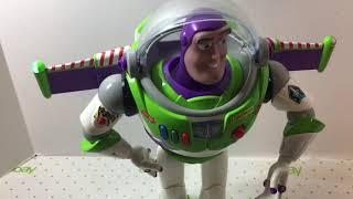 "Buzz Lightyear Toy Story Action Figure Light Up 12"" Disney Store London"