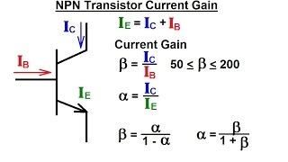 Electrical Engineering: Ch 3: Circuit Analysis (29 of 37) NPN Transistor Current Gain