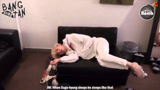 [ENG] 150902 [BANGTAN BOMB] It s the pose when BTS sleep normally