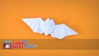 Cómo hacer un murcielago de papel