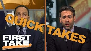 Quick Takes On OTAs, Muay Thai Double Knockdown And Manu Ginóbili | First Take | May 13, 2017