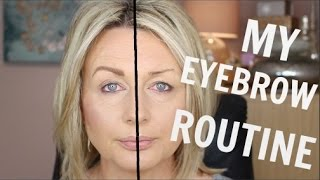 MY EYEBROW ROUTINE | MATURE, OVER PLUCKED BROWS