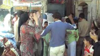 Before wedding in Egypt - Street party
