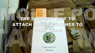 THE CORRECT WAY TO ATTACH MOLLE POUCHES
