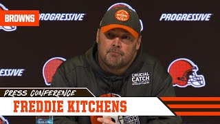Freddie Kitchens Previews Matchup vs. Kyler Murray | Cleveland Browns