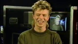David Bowie presenting video vanguard award 1987