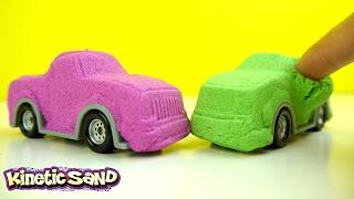 ألعاب سيارات أطفال من الرمل السحري! DIY Kinetic Sand Cars