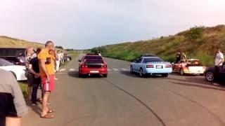Subaru GT vs Supra 330 HP drag