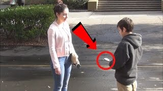 12 Year Old Exposes Gold Diggers Prank - Money Edition