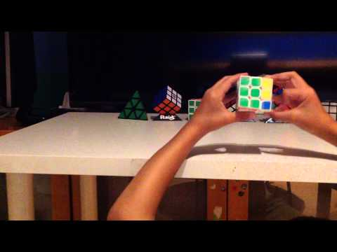 My Rubik's cube solve (1 min XX seconds)
