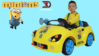 Unboxing Dynacraft Minions 6V Rocket Car Electric Battery Powered Ride On Car Ckn Toys