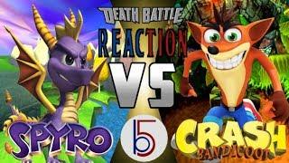 PS1 LEGENDS | Crash vs Spyro Death Battle REACTION