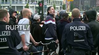 LIVE: Antifa gather in Berlin to protest AfD's electoral night event *EXPLICIT LANGUAGE*
