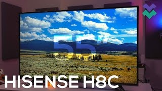 """Hisense H8C Review: Best Budget 55"""" 4K HDR TV for $550!?"""