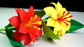 Handmade paper flowers step by step flowers healthy how to make paper stick flower making paper flowers step by step handmade craft mightylinksfo