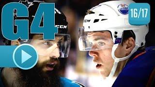 Edmonton Oilers vs San Jose Sharks. 2017 NHL Playoffs. Round 1. Game 4. April 18th, 2017. (HD)