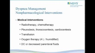 Assessment and Management of Dyspnea in Advanced Illness