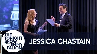 Jessica Chastain Shows Jimmy What It