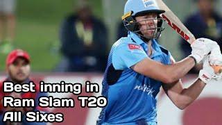 Ab De Villiers Best Inning Of Ram Slam T20 All Sixes & CV fours